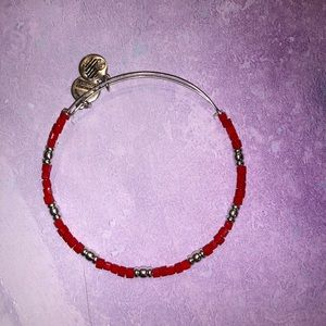 Alex and Ani Red Beaded Bangle